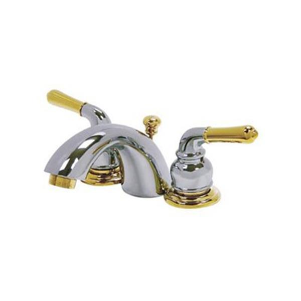 Elements of Design 3.5-in Chrome/Polished Brass Mini Widespread Faucet