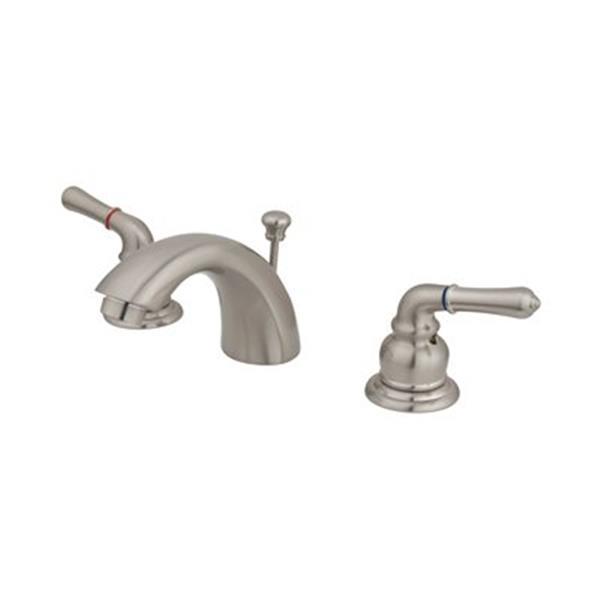 Elements of Design 3.5-in Satin Nickel Mini Widespread Faucet
