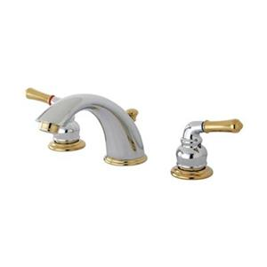 Elements of Design 2.75-in Chrome/Polished Brass Widespread Faucet
