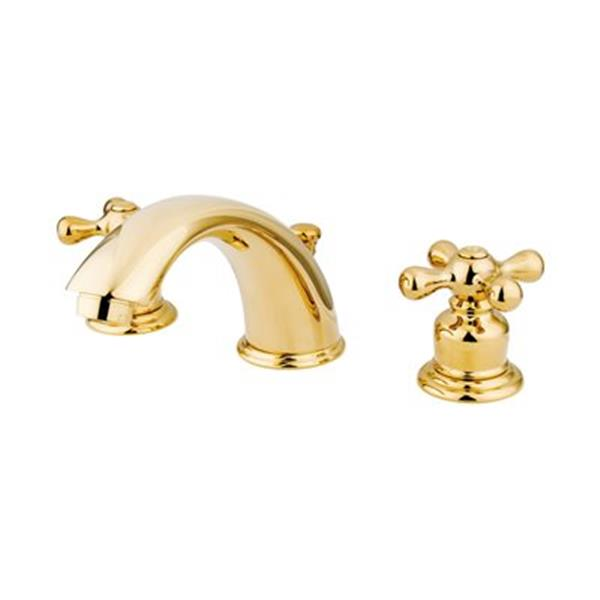 Elements of Design 2.75-in Polished Brass Widespread Faucet