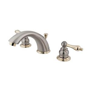 Elements of Design  2.75-in Satin Nickel/Polished Brass Widespread Faucet