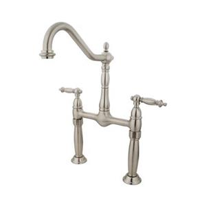 Elements of Design Satin Nickel Vessel Sink Widespread Faucet