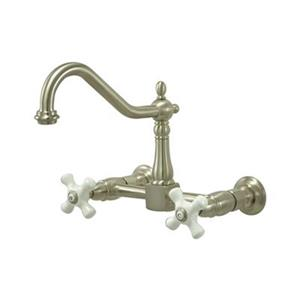 Elements of Design Wall Mounted Satin Nickel Kitchen Faucet