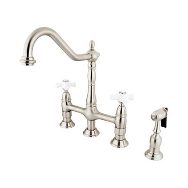 Elements of Design Satin Nickel Kitchen Faucet With Sprayer