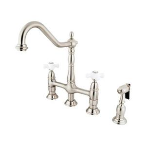 Elements of Design Satin Nickel Kitchen Faucet With Sprayer