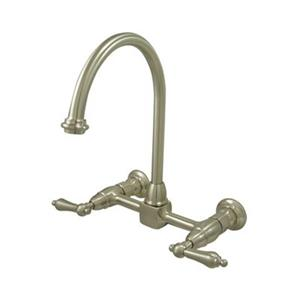 Elements of Design Satin Nickel Wall Mounted Kitchen Faucet