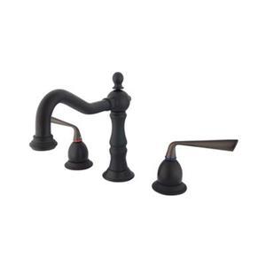 Elements of Design Silver Sage Bronze Widespread Lavatory Faucet