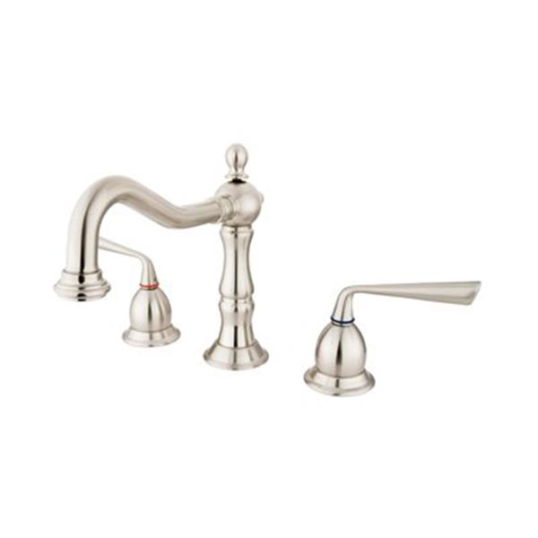Elements of Design Silver Sage Nickel Widespread Lavatory Faucet