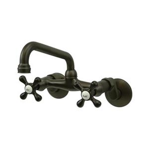 Elements of Design Adjustable Spread High Arc Oil-Rubbed Bronze Wall Mounted Kitchen Faucet