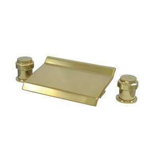 Elements of Design Polished Brass Two Handle Roman Tub Faucet