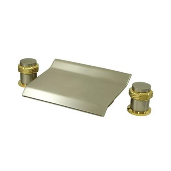 Elements of Design Satin Nickel/Polished Brass Two Handle Roman Tub Faucet