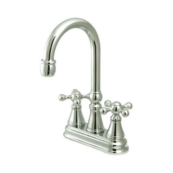 Elements of Design Chrome Without Pop-Up Rod Bar Faucet