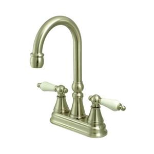 Elements of Design Satin Nickel Without Pop-Up Rod Bar Faucet