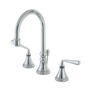 Elements of Design Silver Sage Chrome Widespread Lavatory Faucet