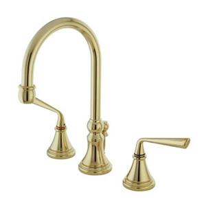 Elements of Design Silver Sage Brass Widespread Lavatory Faucet