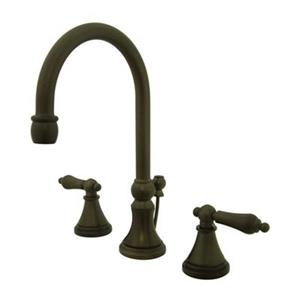 Elements of Design Bronze Widespread Lavatory Faucet
