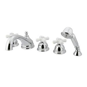 Elements of Design Chicago Polished Chrome 3-Handle Roman Tub Filler