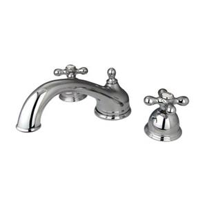 Elements of Design Chicago Polished Chrome Widespread Roman Tub Filler
