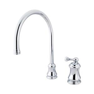 Elements of Design Chicago Chrome Widespread Single Handle Buckingham Kitchen Faucet