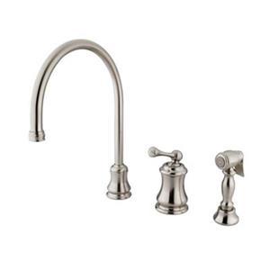 Elements of Design Chicago Nickel Widespread Single Handle Kitchen Faucet