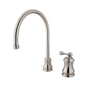 Elements of Design Chicago Nickel Widespread Single Handle Buckingham Kitchen Faucet