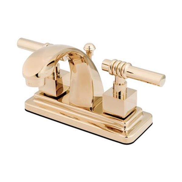 Elements of Design Milano Polished Brass Centerset Faucet