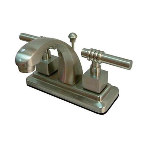 Elements of Design Milano Satin Nickel Centerset Faucet