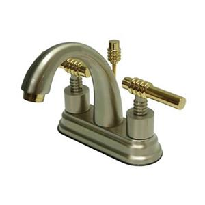 Elements of Design Nickel/Brass Deck Centerset Faucet