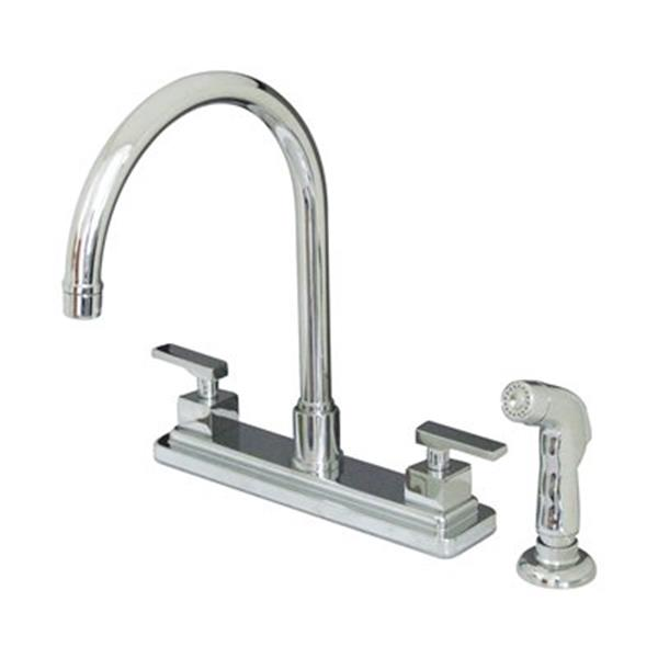 Elements of Design Concord Two Handle Chrome Kitchen Faucet With Sprayer