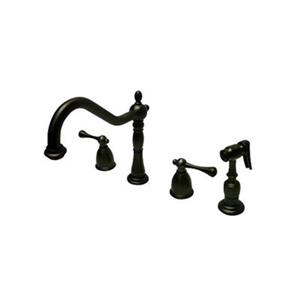 Elements of Design English Country Deck Oil-Rubbed Bronze Two Handle Faucet