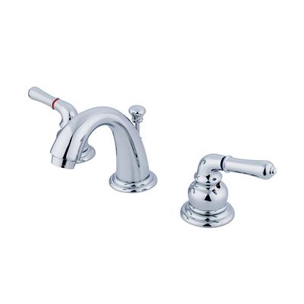 Elements of Design Magellan Chrome Twin Handle Mini Widespread Faucet