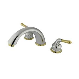 Elements of Design Magellan 7.7-in Chrome/Polished Brass Widespread Faucet
