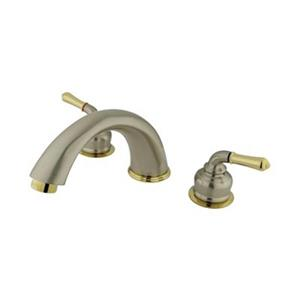 Elements of Design Magellan 7.7-in Polished Bass/Satin Nickel Widespread Faucet