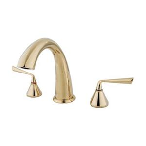 Elements of Design Silver Sage 8.4-in Polished Brass Roman Tub Filler
