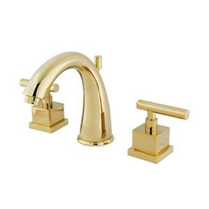 Elements of Design Claremont Polished Brass Widespread Faucet
