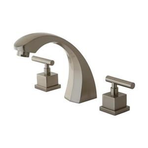 Elements of Design Rio 7.50-in Satin Nickel Roman Tub Filler