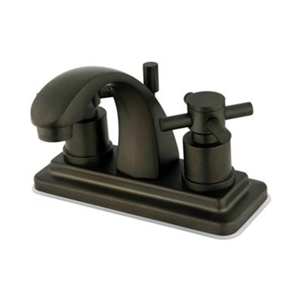 Elements of Design Bronze Concord Centerset Faucet