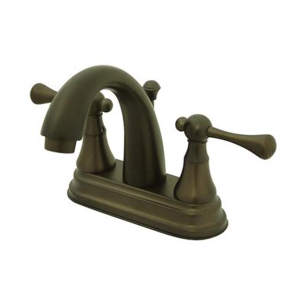 Elements of Design Bronze English Vintage Centerset Faucet