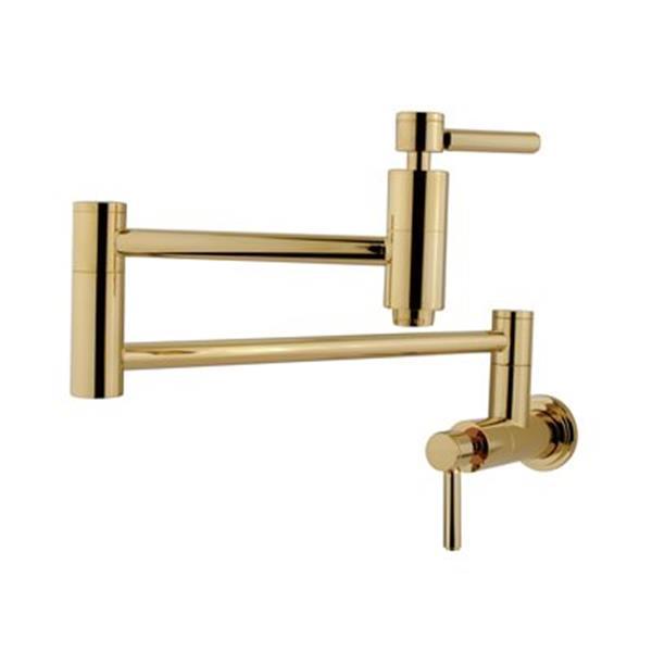 Elements of  Design Concord Polished Brass Pot Filler
