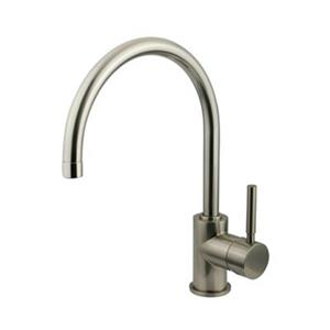 Elements of Design Nickel Concord Vessel Faucet Without Pop-Up