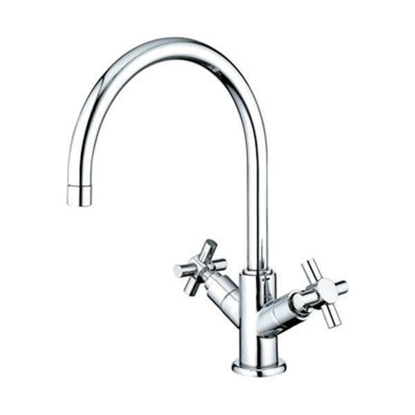 Elements of Design Chrome Concord Twin Handle Vessel Sink Faucet