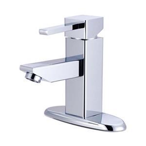 Elements of Design Chrome Claremont Single Handle Centerset Faucet
