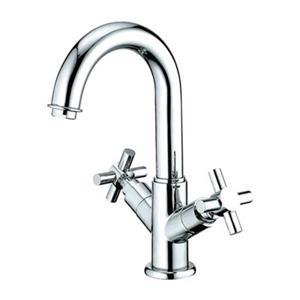 Elements of Design Chrome Concord Twin Cross Handle Centerset Faucet