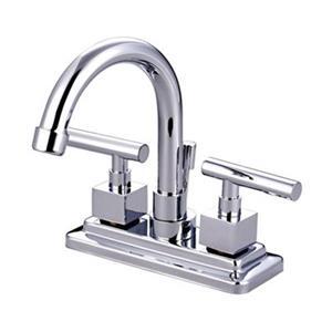 Elements of Design Chrome Claremont 2-Handle Centerset Faucet