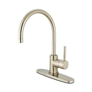 Elements of  Design Concord 13-in Satin Nickel Single Handle Kitchen Faucet