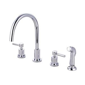 Elements of  Design Concord 11.50-in Chrome Widespread Lever Handle Kitchen Faucet with Sprayer