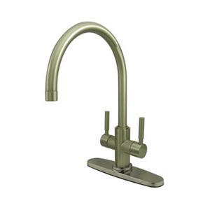 Elements of  Design Concord 13.5-in Satin Nickel Twin Lever Handles Kitchen Faucet