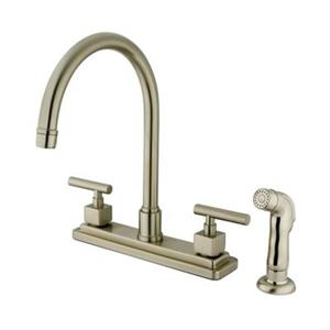 Elements of  Design Claremont 12.5-in Satin Nickel Two Handle Kitchen Faucet with Sprayer