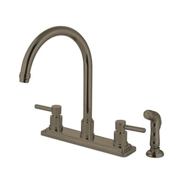 Elements of  Design Concord 12.5-in Satin Nickel Two Handle Kitchen Faucet with Sprayer