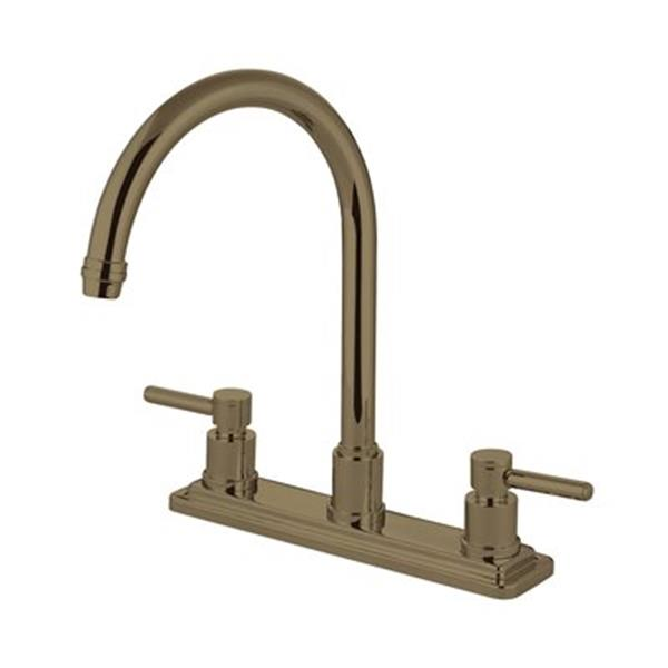 Elements of  Design Concord 12.5-in Satin Nickel Two Handle Kitchen Faucet